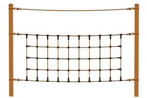 Climbing net, for steel posts
