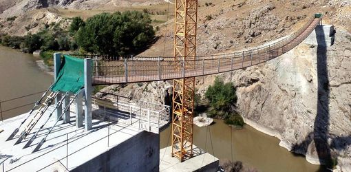 87-metre bridge connects two villages in Turkey